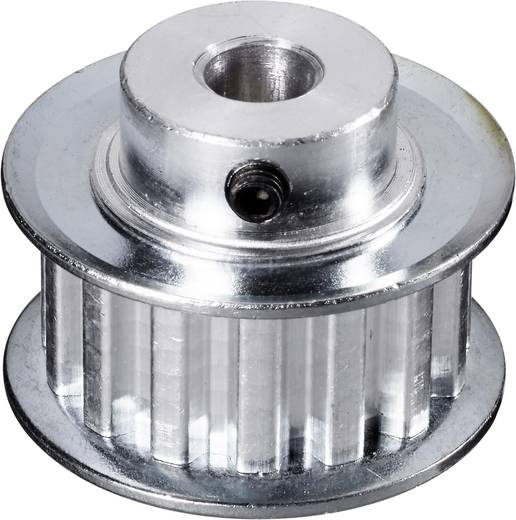 Reely Aluminium Tandriemschijf Boordiameter: 8 mm Diameter: 38 mm Aantal tanden: 20