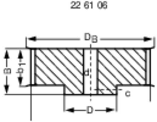 Reely Tandriemschijf Boordiameter: 2.3 mm Diameter: 15 mm Aantal tanden: 15