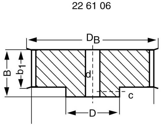Reely Aluminium Tandriemschijf Boordiameter: 8 mm Diameter: 57 mm Aantal tanden: 35