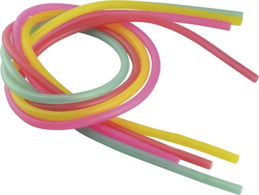 Reely Siloconen brandstofslangset Binnendiameter 2 mm Rood, Lila, Groen, Geel