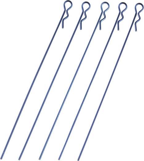 Reely 1:10 Bodyklemmen Blauw (metallic) Lengte: 120 mm 5 stuks