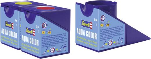 Revell 36374 Aqua Color verf Grijs (zijdeglans) Kleurcode: 374 RAL-kleurcode: 7001 Doos 18 ml