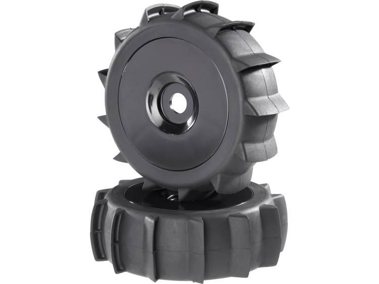 Reely Buggy Complete wielen Sand Schijf Zwart 2 stuks