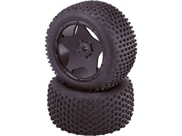 Reely 1:5 Buggy Complete wielen Big Spike 5-punts ster Zwart 2 stuks