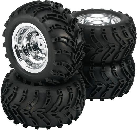 Reely 1:10 Monstertruck Complete wielen Traktor Retro Chroom 4 stuks
