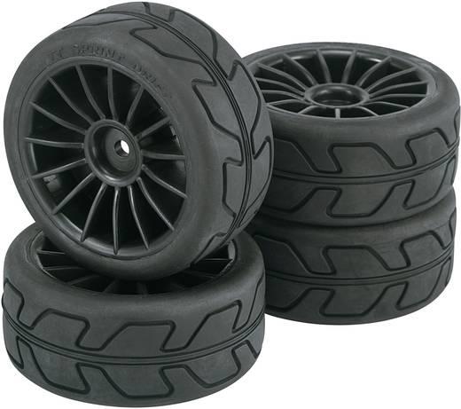 Reely 1:10 Straatmodel Complete wielen Speed 15-spaaks Zwart 4 stuks