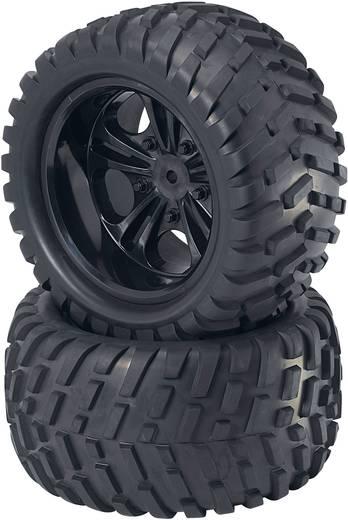 Reely 1:5 Monstertruck Complete wielen V-Block 5-dubbelspaaks Zwart 2 stuks