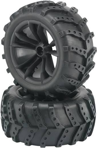 Reely 1:10 Monstertruck Complete wielen Extreme 5-dubbelspaaks Zwart 2 stuks