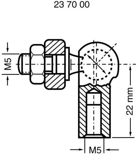 Modelcraft Staal Kogelkop met binnenschroefdraad M5 1 stuks