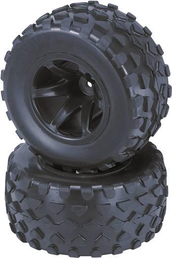 Reely 1:10 Truggy Complete wielen Rhombo 6-spaaks Zwart 2 stuks