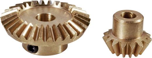 Reely Messing kegeltandwiel Soort module: 0.75 Aantal tanden: 15, 30 1 set