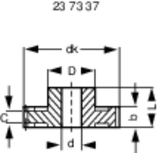 Acetaalhars Recht tandwiel Reely Soort module: 1.0 Boordiameter: 4 mm Aantal tanden: 20