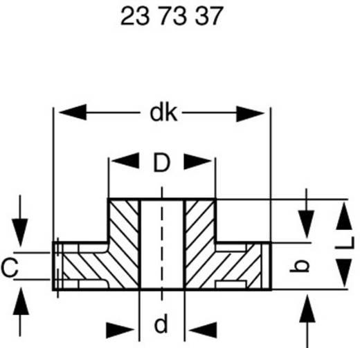 Polyacetaal Recht tandwiel Reely Soort module: 0.5 Boordiameter: 6 mm Aantal tanden: 80