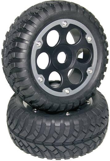 Reely 1:8 Buggy Complete wielen Crust Desert Zwart/titaan 2 stuks
