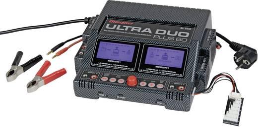 Graupner Ultra Duo Plus 60 Modelbouw multifunctionele lader 220 V 20 A Lood, Li-poly, Li-ion, LiFePO, NiMH, NiCd