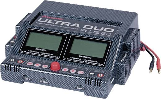 Graupner Ultra Duo Plus 60 Modelbouw multifunctionele lader 220 V 20 A Lood, Li-poly, Li-ion, NiMH, NiCd