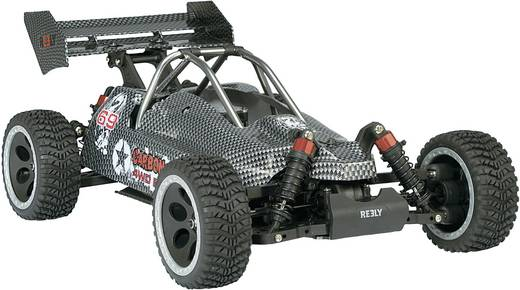 Reely 1:10 Buggy Complete wielen Fighter 5-spaaks Zwart 4 stuks
