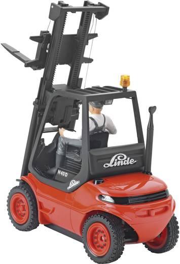 Carson Modellsport Gabelstapler Linde H 40 D 1:14 RC functiemodel voor beginners Bouwvoertuig