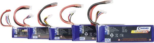 LiPo accupack 7.4 V 800 mAh 40 C Conrad energy Stick Open kabeleinden