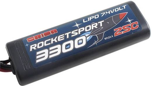 LiPo accupack 7.4 V 3300 mAh 25 C Team Orion Stick hardcase Tamiya-stekker, T-bussen, Traxxas-bus, EC3