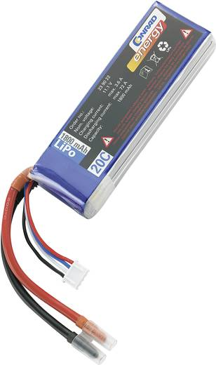 LiPo accupack 11.1 V 1800 mAh 20 C Conrad energy Stick Open kabeleinden