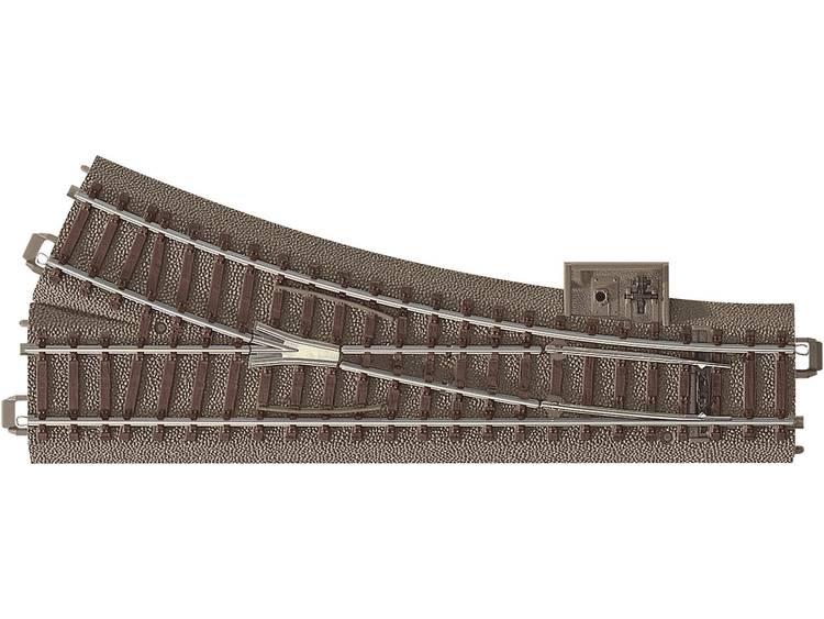 Image of H0 Trix C-rails 62612 Wissel, Rechts Met handbediening 188.3 mm 24.3 ° 437.5 mm