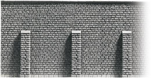 """NOCH 48056 H0 stenen muur met steunberen """"Profi-Plus"""", geverfd"""