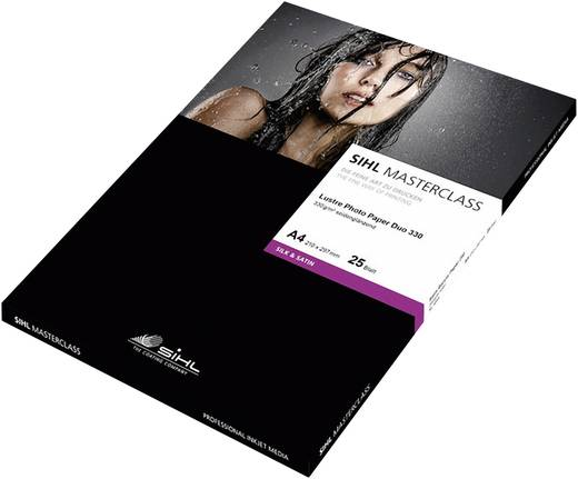 Sihl Masterclass Lustre Photo Paper Duo 4845, 12033992, DIN A4, 330 g/m², Zijdeglans, 25 vellen