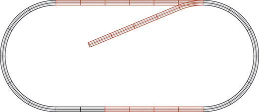 H0 Roco GeoLine (met ballastbed) 61101 Uitbreidingsset