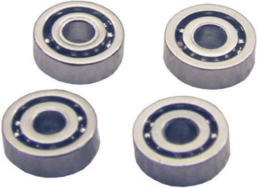 Staal Micro-kogellager K15 Gesloten (Ø x h) 4 mm x 2 mm 4 stuks
