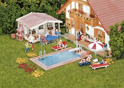 Faller 180542 H0 Zwembad en tuinhuis