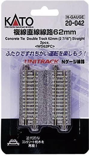 N Kato Unitrack 7078022 Dubbelspoor, Recht 62 mm