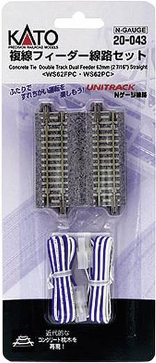 N Kato Unitrack 7078023 Dubbelspoor, Aansluitrails 62 mm