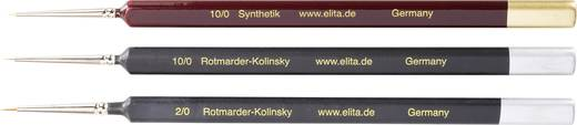 Elita 51172 Rood marterhaar / synthetisch haar penselen, 3 stuks Dikte 10/0, 10/0 en 2/0