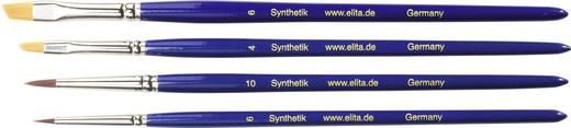 Elita verouderingspenseel voor poeder- en vloeibare verf (synthetisch,) 4 stuks.