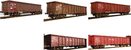 MiniTrix T15993 N 5 goederenwagens EANOS schroottransport van de DB AG
