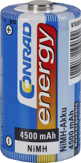 Conrad energy HR14 C oplaadbare batterij (baby) NiMH 1.2 V 4500 mAh 1 stuks