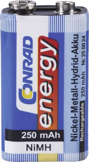 Conrad energy 6LR61 9V oplaadbare batterij (blok) NiMH 8.4 V 250 mAh 1 stuks