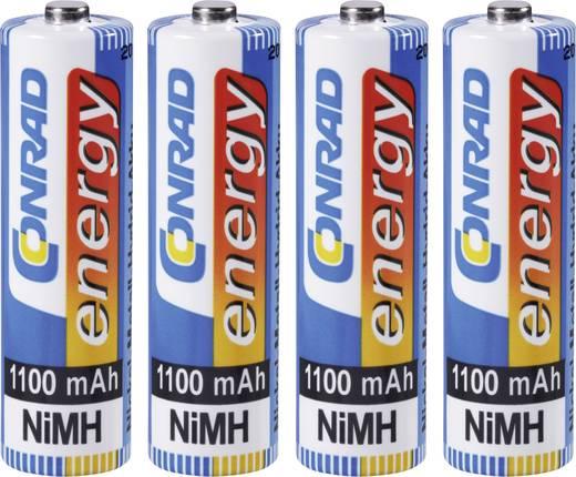 AA oplaadbare batterij (penlite) NiMH Conrad energy HR06 1100 mAh 1.2 V 4 stuks