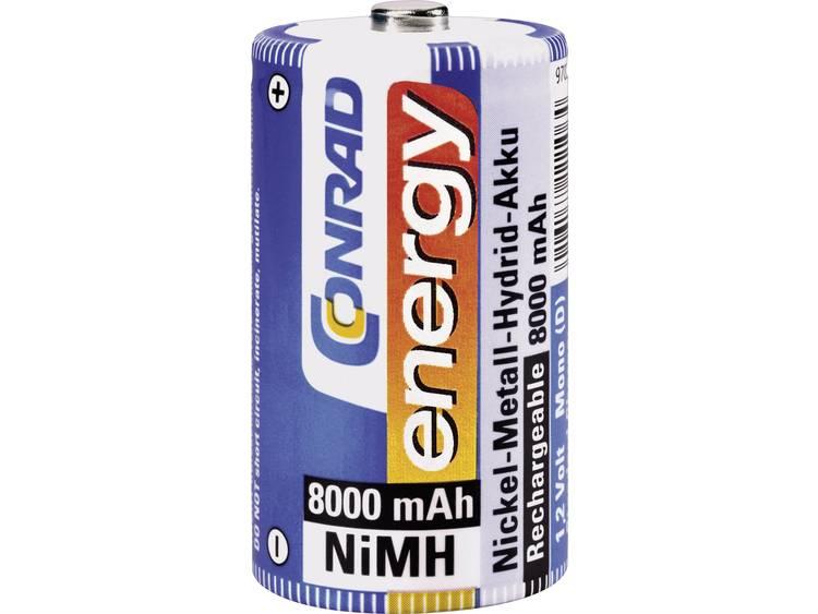 Conrad energy HR20 Oplaadbare D batterij (mono) NiMH 8000 mAh 1.2 V 1 stuk(s)