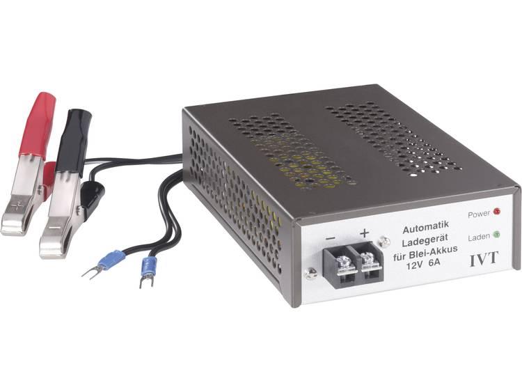 IVT Automatische loodaccu-oplader, 12 V-6 A 900012 Lood-oplader 12 V-6 A Loodacculader voor Loodgel,