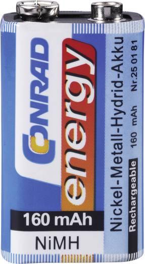 Conrad energy 6LR61 9V oplaadbare batterij (blok) NiMH 8.4 V 160 mAh 1 stuks
