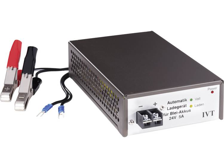 IVT Automatische loodaccu-oplader, 24 V-5 A 7450C2 Lood-oplader 24 V-5 A Loodacculader voor Loodgel,