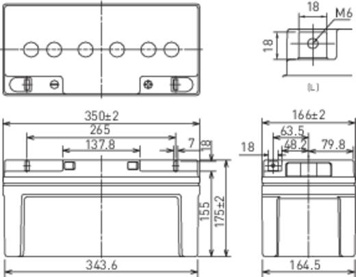Loodaccu 12 V 65 Ah Panasonic LC-X1265PG Loodvlies (AGM)