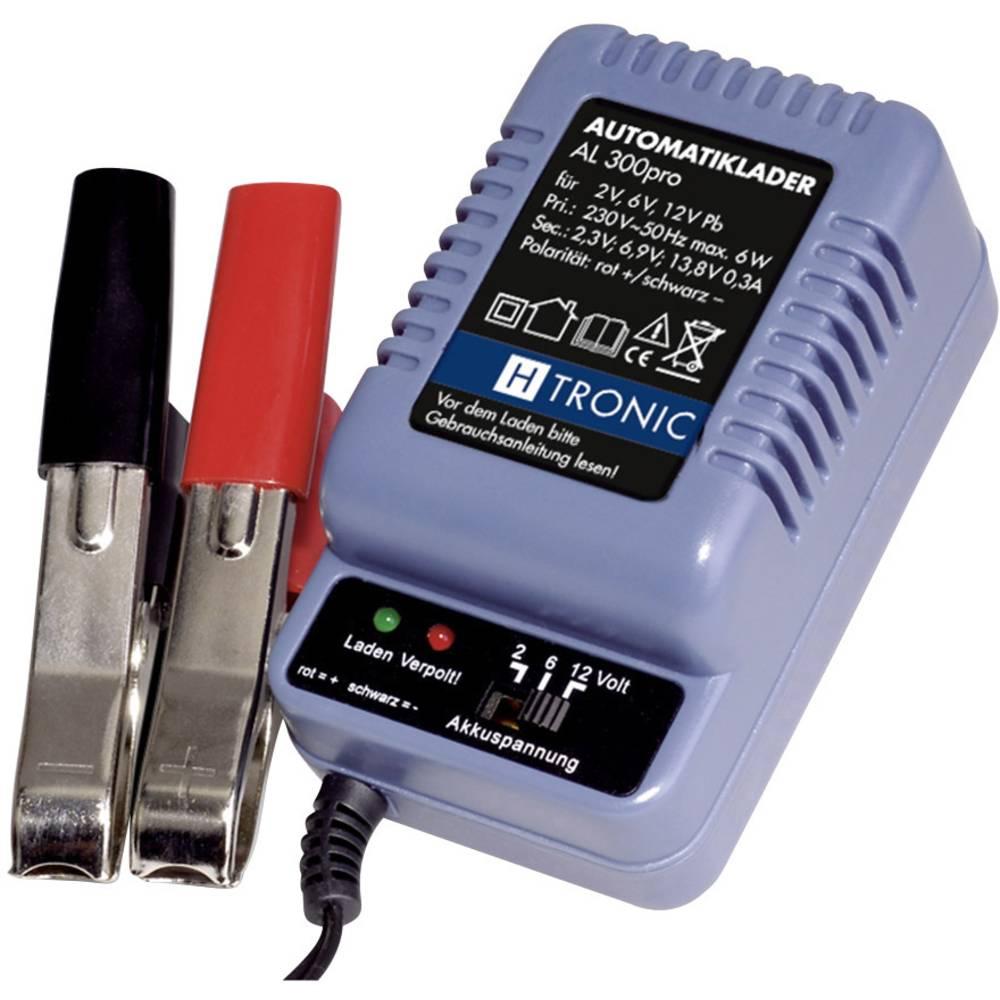 H-Tronic Automatische loodaccu-stekkerlader AL 300 1248217 AL 300 PRO loodacculader voor Loodzuur, L