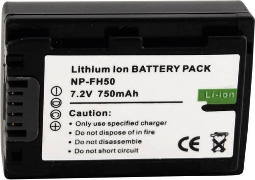 Conrad energy Camera-accu Vervangt originele accu NP-FH50 7.2 V 550 mAh