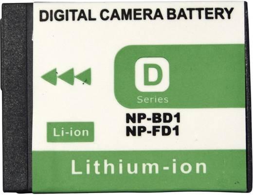 Conrad energy Camera-accu Vervangt originele accu NP-BD1, NP-FD1 3.6 V 650 mAh