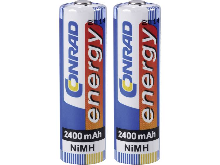Conrad energy HR06 Oplaadbare AA batterij (penlite) NiMH 2400 mAh 1.2 V 2 stuk(s)