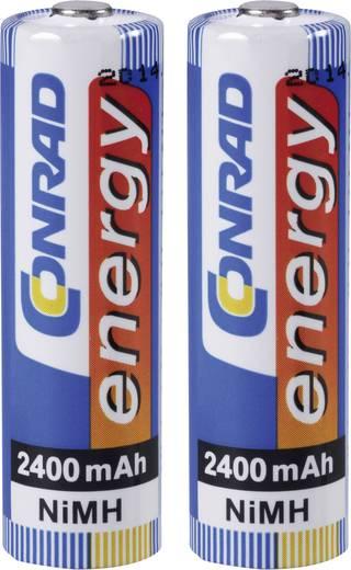 AA oplaadbare batterij (penlite) NiMH Conrad energy HR06 2400 mAh 1.2 V 2 stuks