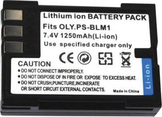 Conrad energy Camera-accu Vervangt originele accu PS-BLM1 7.4 V 1250 mAh
